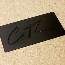 Personalized strange shape bump quality wire drawing stainless steel business metal card
