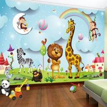 Фотообои на заказ 3D мультфильм животное фото обои для мальчиков и девочек детская спальня фон настенная живопись детская настенная бумага