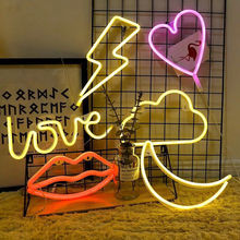 USB Charging Baby Night Lamp AAA Battery Box Love Flamingo Led Letter Night Light Creative For Home Wedding Christmas Decoration