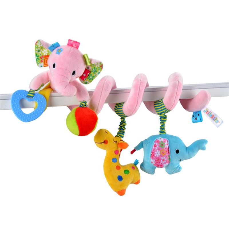 Elephant Baby Infant Crib Plush Toy Wrap Around Crib Rail Toy Stroller Toy Cute Baby Early Educational Plush Toys for Newborn
