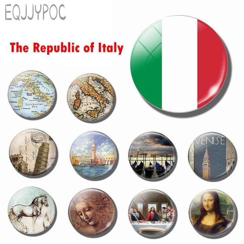 Итальянский флаг 30 мм магнит на холодильник Рим Милан Naples Torino Палермо Итальянский Сувенир стекло магнитные наклейки на холодильник домашний декор