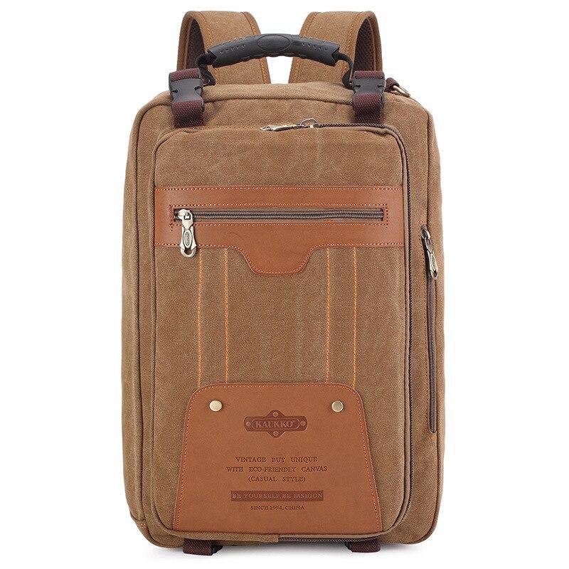 ФОТО 2016 New Men Canvas Travel Backpack Bag Large Capacity Vintage Military Men Laptop Multifunction Bagpack