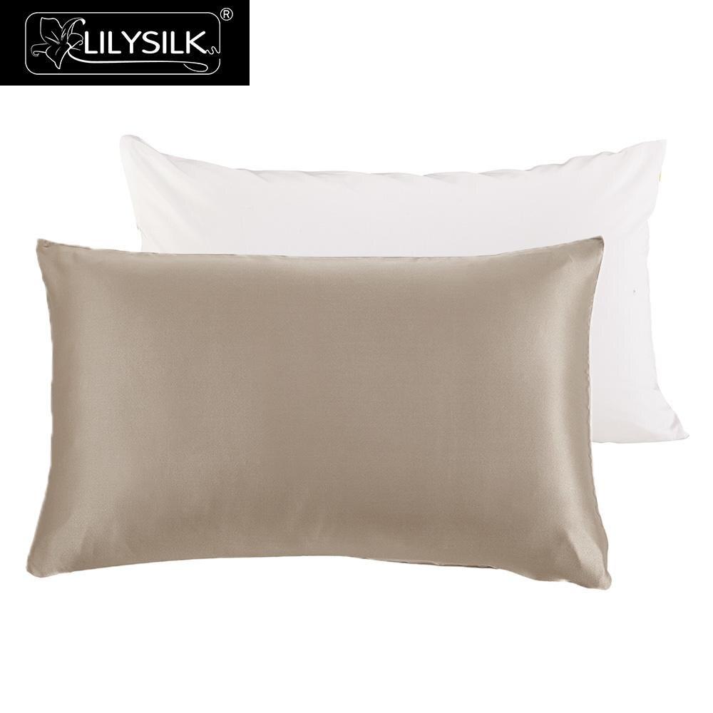Lilysilk Pillowcase Silk With Cotton Underside Hidden
