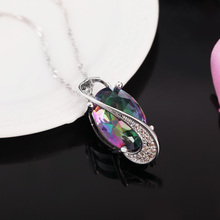 Elegant Charms Crystal Pendant Necklace Fashion Jewelry