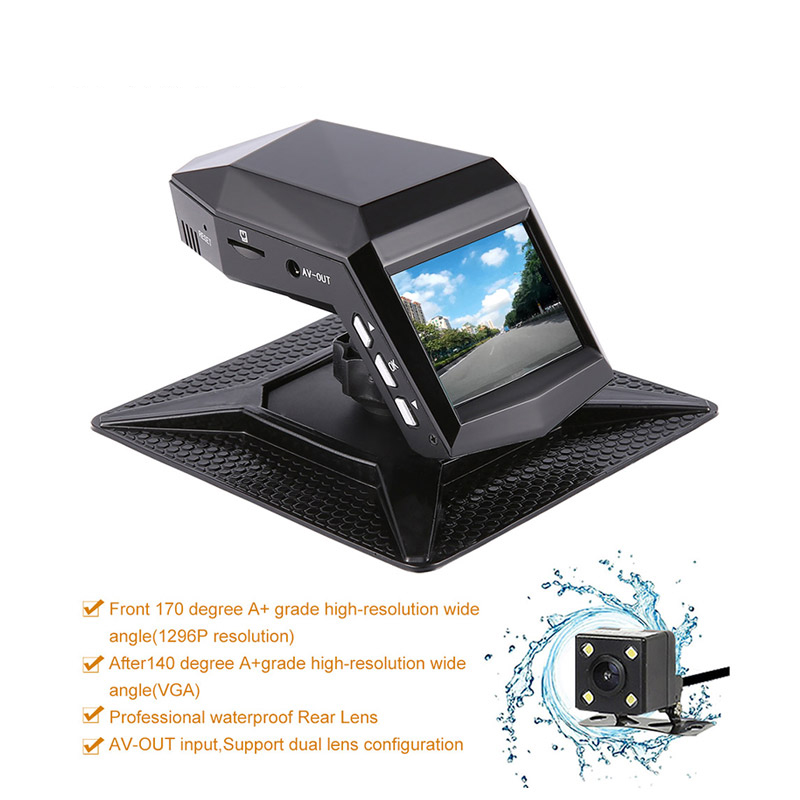 Full HD 1080p Dash Camera Car DVR Car Dvrs 170 Degree Car Dvr Rear View Camera Waterproof  Registrar Video Recorder Mirror