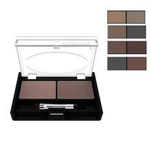 Eyeshadow bolo maquiagem 2 cor à prova dwaterproof água sobrancelha em pó sombra de olho sobrancelha paleta + escova sobrancelha enhancer profissional