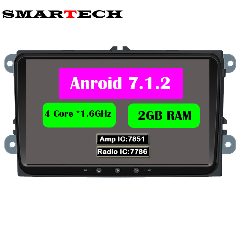 2 Din 9 Inch VW Radio 2G RAM Android 7 1 2 Car DVD GPS Video