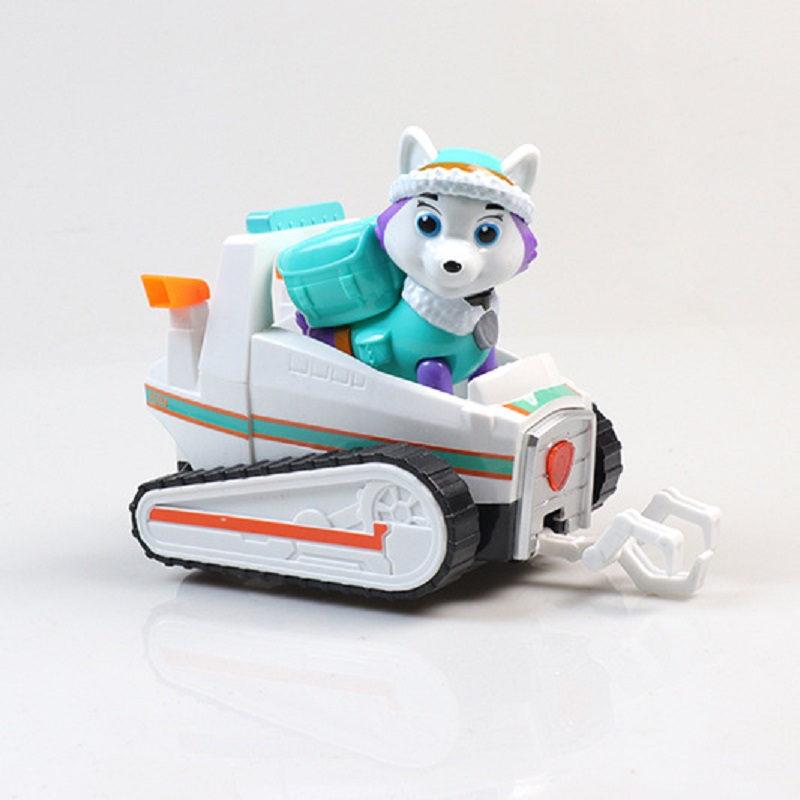 Paw Patrol Dog Everest Can Eject Dog Tracker Musical Lighting Anime Figurine Toy Action Figure Patrulla Canina Toys