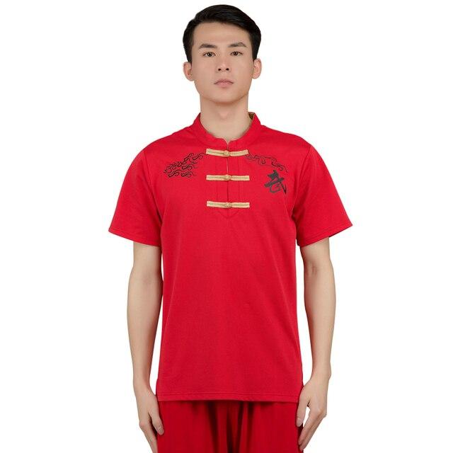 Кунг-фу футболка Китайский кунг-фу костюм Taichi культуры Одежда Кунг-фу Мастер