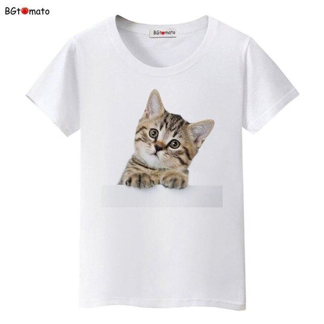 b6e4d53cb61 BGtomato Super cute 3D cats T-shirt women lovely cool summer clothes ...