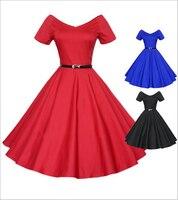 Black Vintage Solid Ball Gown Dress 2016 Summer Modest&Elegant Sashes Dress Short Sleeve V neck Empire Purified Cotton DressAX52
