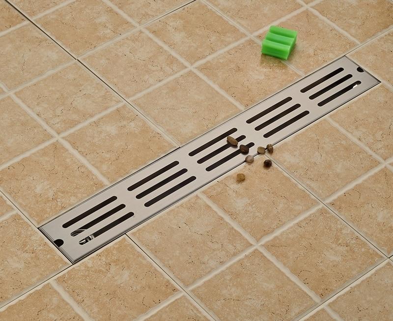 Brushed Nickel 70cm Floor Drainer Fast Draining Bathroom Shower Floor Drain New bradex draining rack