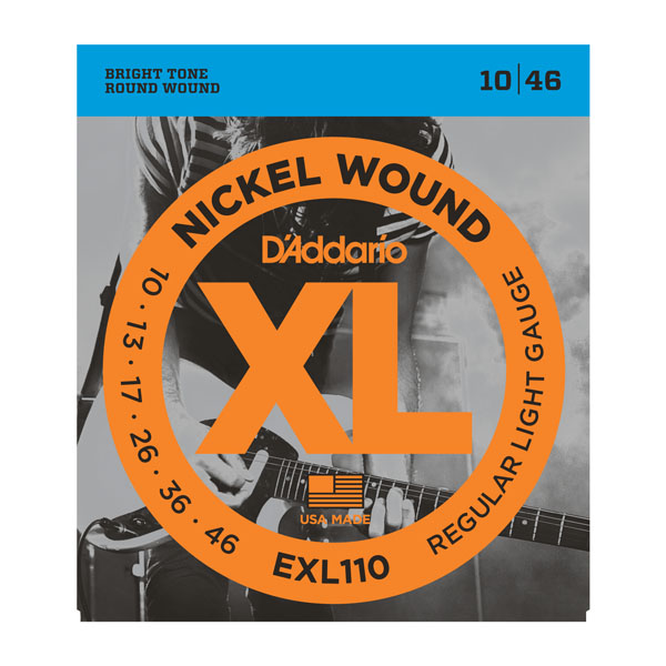 D'Addario Electric Guitar Strings EXL Nickel Wound EXL110 EXL115 EXL120 EXL125 EXL130 EXL140 Daddario d addario daddario exl110 american made nickel wound electric guitar strings regular light 10 46