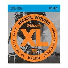 D'Addario Electric Guitar Strings EXL Nickel Wound EXL110 EXL115 EXL120 EXL125 EXL130 EXL140 Daddario