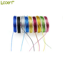9 Pcs/lot Looen 10m/Piece DIY Bag Candy Metallic Yarn / Gold and Silver Thread  Sewing Embroidery Cross Stitch Silk Threads