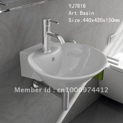7816 Bathroom Ceramic Wall hung Wash hand Wash bowl Sink basin lavatory lavabo
