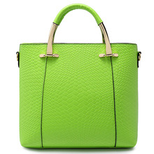 2016 Fashion Patchwork Women Handbags Embossed Candy Color New Brand PU Leather Bags For Lady