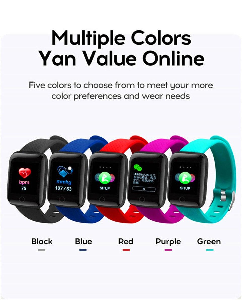 HTB1y.vqO4TpK1RjSZFMq6zG VXaY Smart Wristband Heart Rate Monitor Smart Fitness Bracelet Blood Pressure Waterproof IP67 Fitness Tracker Watch For Women Men