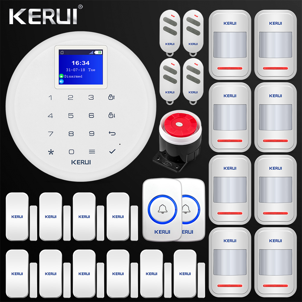 Latest 1.7-inch G17 Android IOS APP Control GSM Home Security Alarm System PIR Motion Door Sensor Siren Wireless Doorbell fuers wireless home security gsm wifi sim alarm system ios android app remote control rfid card pir door sensor siren kit