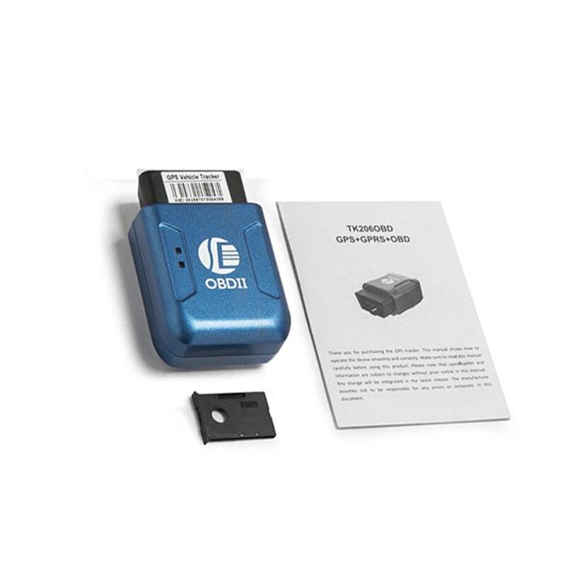 Top Quality GPS TK206 OBD 2 Real Time GSM Quad Band Anti-theft Vibration Alarm GSM GPRS Mini GPRS Car Tracker Tracking OBD II