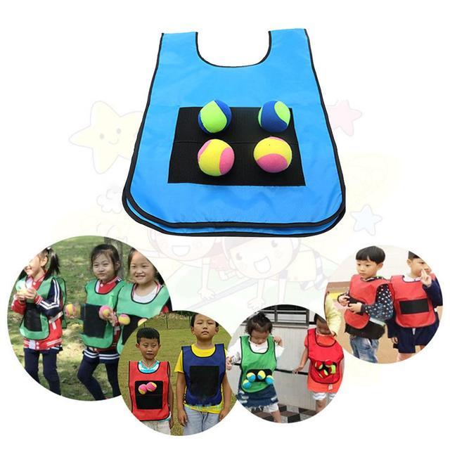 Детский игровой реквизит жилет липкий Трикотажный жилет игровой жилет одежда с пастой мяч для игрушек на открытом воздухе