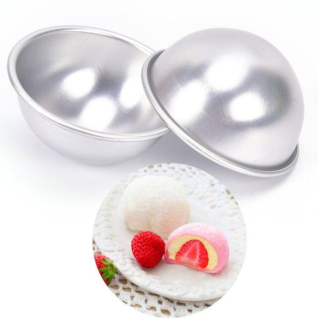 2 Pcs/Lot Creative Mold Bath Bombs Metal Aluminum Alloy Bath Bomb Mold 3D Ball Sphere Shape DIY Bathing Tool Accessories 3