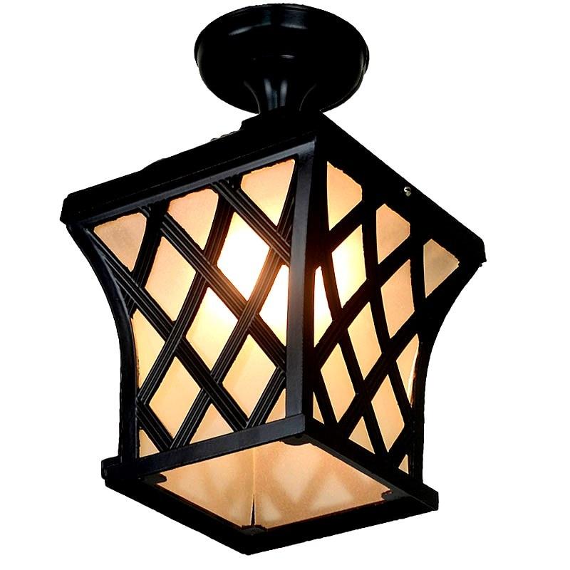 Outdoor Light ceiling lamps waterproof garden lamp LED Yang outdoor porch porch corridor lamp Vintage Ceiling Lights FG242 glass ceiling lamps light creative foyer corridor light ceiling lights aislepastoral porch absorb df122