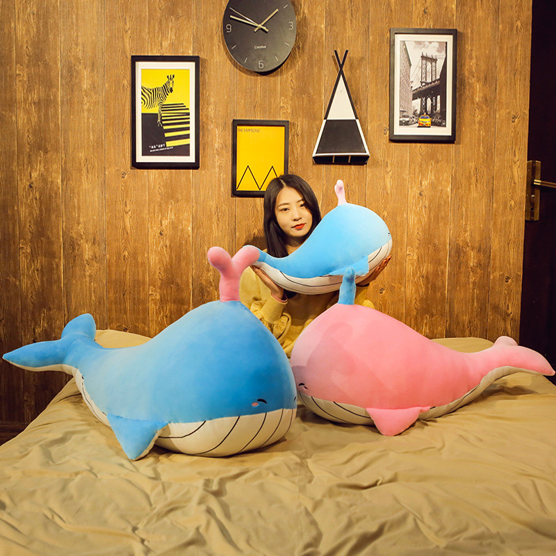 Expressive 50/70/90cm New Style Blue Whale Plush Toys Big Fish Cloth Doll Whale Soft Stuffed Plush Animals Doll Children Birthday Gift Fixing Prices According To Quality Of Products Dolls & Stuffed Toys