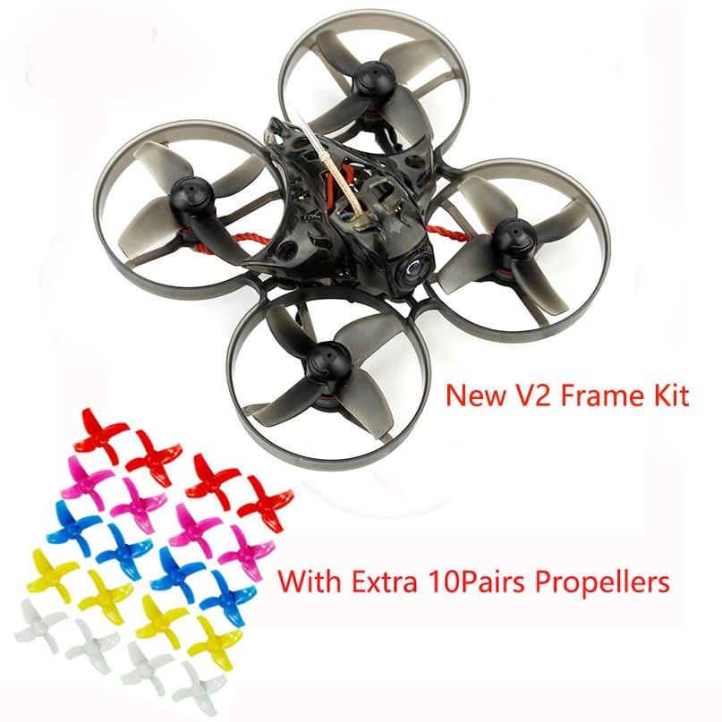 Happymodel Mobula7 75mm Crazybee F3 Pro OSD 2 S Bwhoop FPV Racing Drone Quadcopter w/Mise À Niveau BB2 ESC 700TVL BNF 10 Paire Hélice