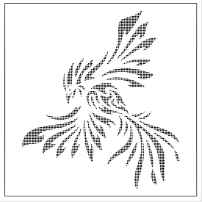 1PC Animal Phoenix Shaped Reusable Stencil Airbrush Painting Art DIY Home Decor Scrap Booking Album Crafts