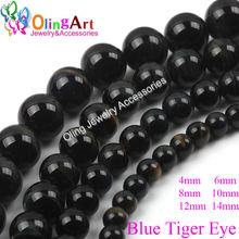 Olingart 2019 Новые 6 8 10 12 мм круглые синие тигровые глаза