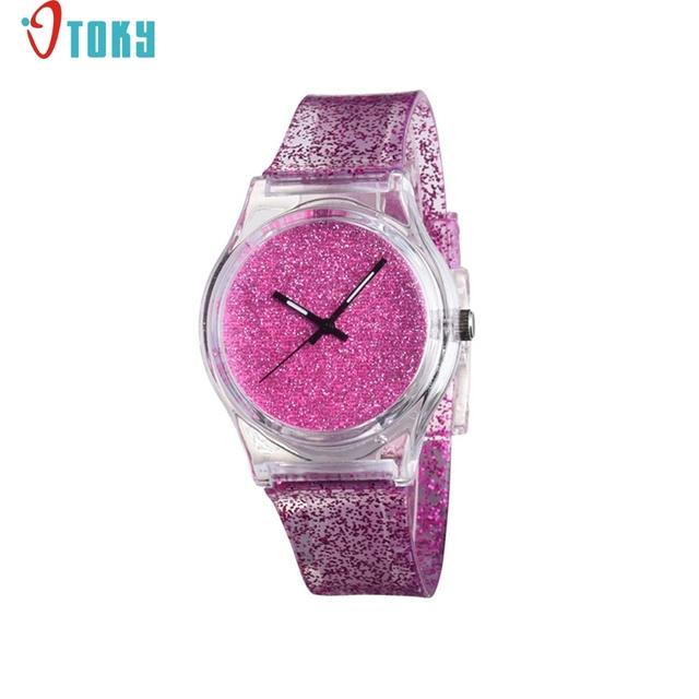 Unisex Glitter Silicone Wrist Watch For Women