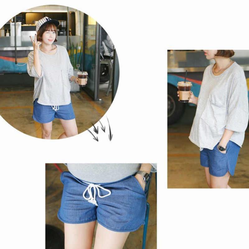 יולדות ג 'ינס רופף מכנסיים בתוספת גודל בגדי נשים בהריון Capris מכנסיים הריון בגדי הריון מכנסיים