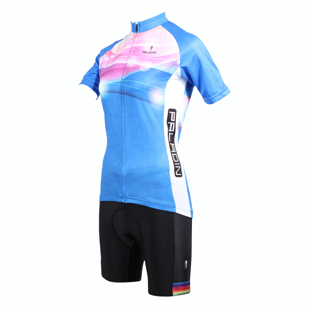 4aadf609f Free shipping New Women Breathable Cycling Jersey Comfortable Blue Bike Bicycle  Shirts Pink Clouds Cycling Clothing Size XS-6XL