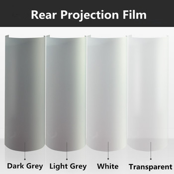 5 colors Rear Projection Screen Film 3D Holographic Projection Film Adhesive Outdoor/indoor advertising equipment 1.52m x 5m