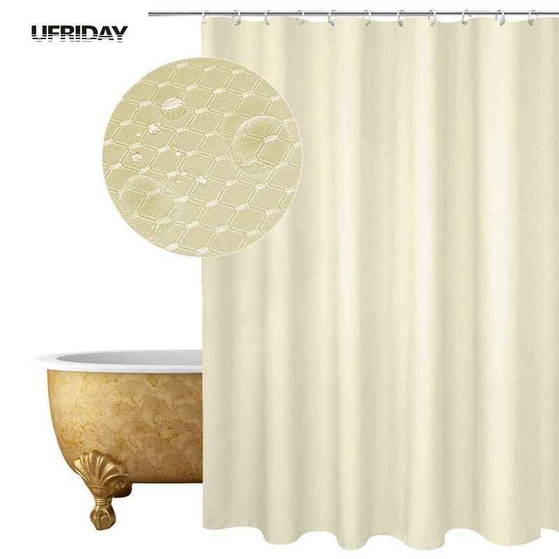Uالجمعة الهراء نسج دش ستارة للحمام البوليستر العسل مقاوم للماء حمام الستائر للمنزل فندق أحجام متعددة جديد