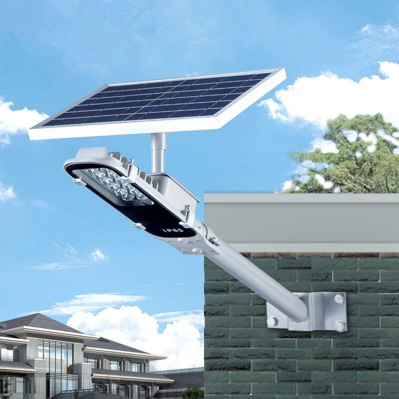Réverbère solaire intégré lampe à énergie solaire imperméable à l'eau pour la maison éclairage extérieur lampe murale de voie de lampe de jardin solaire LED