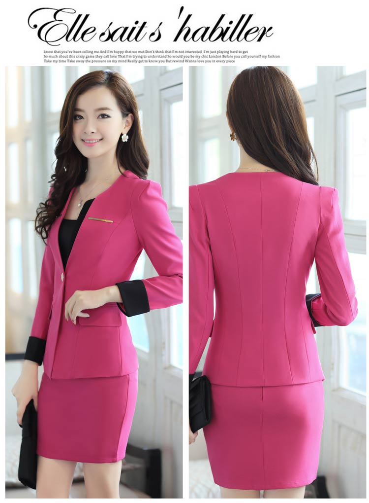 Popular Pink Blazer Woman Suit with Skirt-Buy Cheap Pink Blazer ...