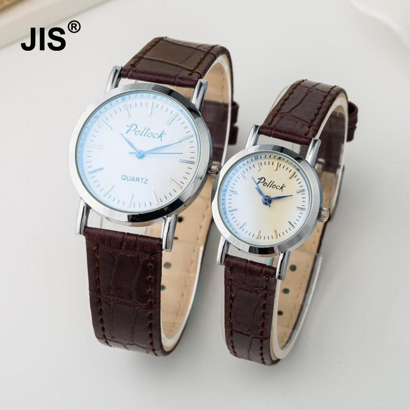 Hot Sale Vintage Classic Silver Stainless Steel Shell Genuine Leather Dress Wristwatches Wrist Watch for Men Women Unisex hot sale silver stainless steel