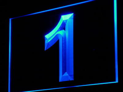 i870 Number One 1 First Display Decor Decor Neon Light Sign On/Off Swtich 20+ Colors 5 Sizes
