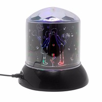 Funny Lighting Projector Lamp LED Laser Flashing Atmosphere Lamp Romantic Colorful Twilight Lover Valentines Gift Kids
