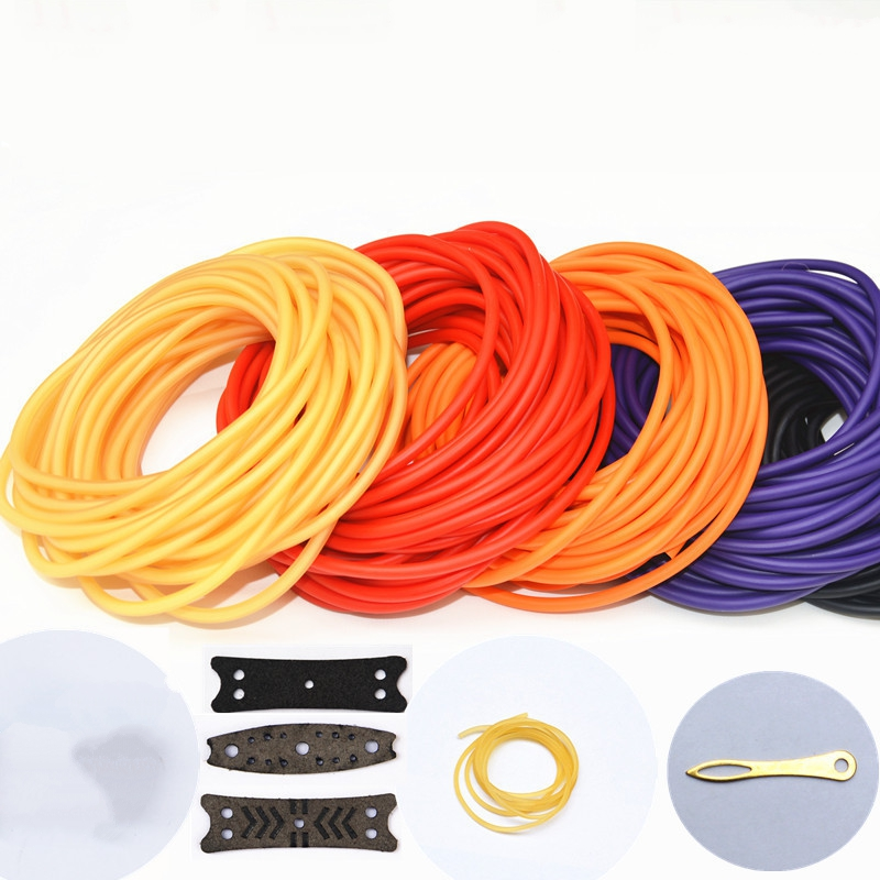 New High Quality 10m/Lot Strength Rubber Bands 6 Colors Variety of Sizes 2040/1842/1745/2050/3060 For Slingshot Hunting pegasi high quality 5pcs 50 sizes hss