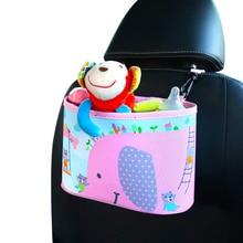 Мультфильм заднем сиденье автомобиля Еда Напиток Хранения повесить сумку Детские коляски корзину Бумага Полотенца игрушки изменить пеленки Организатор закладочных уборки