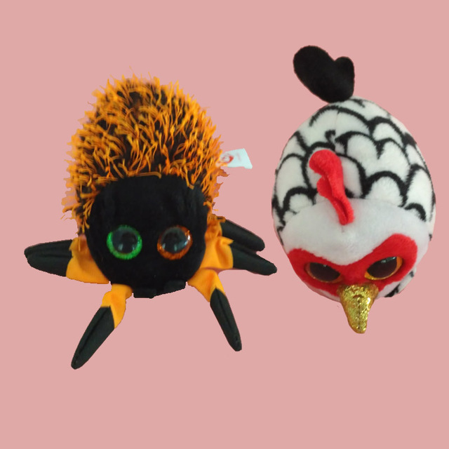 d3300c8dcae TY Beanie Boo teeny tys Plush - Icy the Seal 9cm Ty Beanie Boos Big Eyes Plush  Toy Doll Spider cock tiger Baby Kids Gift