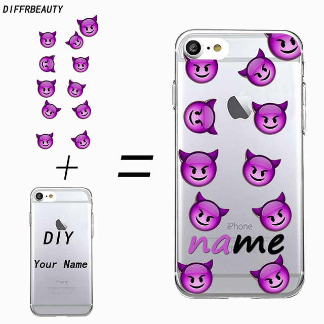 Us 4 99 Custom Design Transparent Tpu Diy Name Ultra Thin Dustproof Personalized Phone Case Cover Coque Capa For Iphone 7 6 Plus 5 Se In Fitted