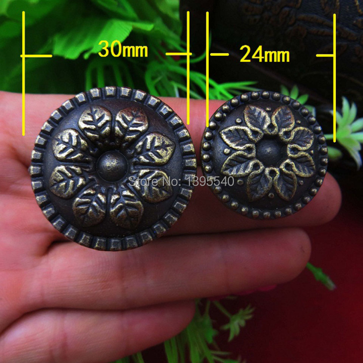 New 30mm Antique Bronze Zinc Alloy Wintersweet Furniture Hardware Wine Cabinet Drawer Cu ...