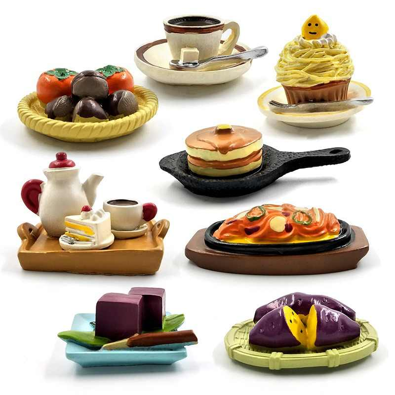 Simulation Coffee Cake Figures Food Dessert Miniature Figurine Pretend play Kitchen Toy Doll House DIY Accessories Baby Gift