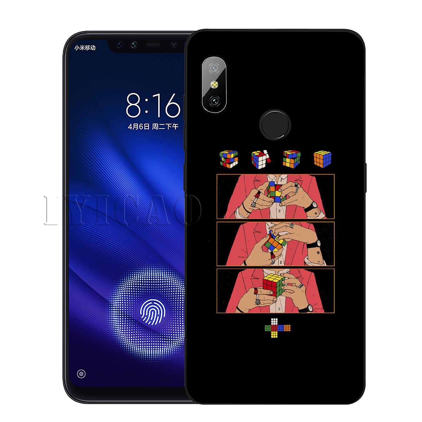 IYICAO ハリースタイル Behandeln Menschen 最上位のため Xiaomi Redmi 6A 5A 注 7 4 4 × 5 プラス 6 プロ黒カバー