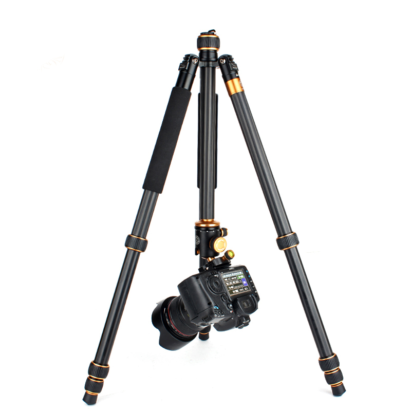 QZSD Q1088 Professional DSLR Camera stand Aluminum Alloy Tripod 15kg Load with Ball Head Monopod Tripe Para Camera Accessories aluminium alloy professional camera tripod flexible dslr video monopod for photography with head suitable for 65mm bowl size