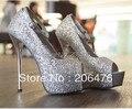 Летняя мода женская обувь сандалии с открытым носком платформа ремень тонкие каблуки хрустальные туфли на высоком каблуке
